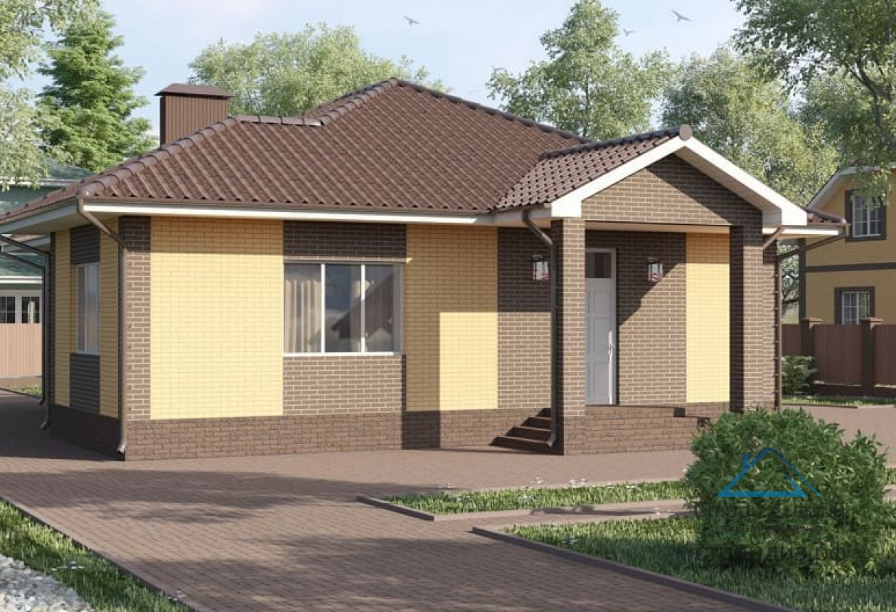 проект одноэтажного дома с крыльцом фото требуется